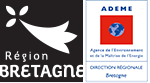 Logo Région Bretagne et Logo Ademe